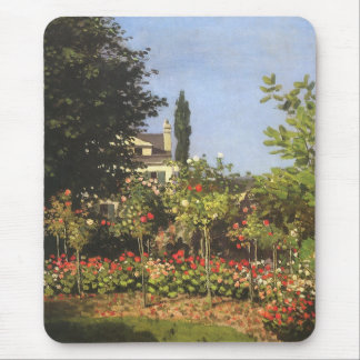 Flowering Garden at Sainte Adresse by Claude Monet Mouse Pad