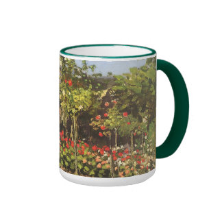 Flowering Garden at Sainte-Adresse by Claude Monet Ringer Coffee Mug