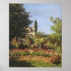 Flowering Garden at Sainte Adresse by Claude Monet Poster