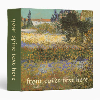 Flowering Garden by Vincent van Gogh 3 Ring Binder