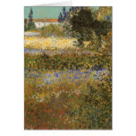 Flowering Garden by Vincent van Gogh Greeting Cards