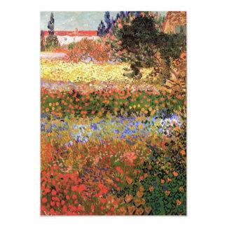 Flowering Garden by Vincent van Gogh Card