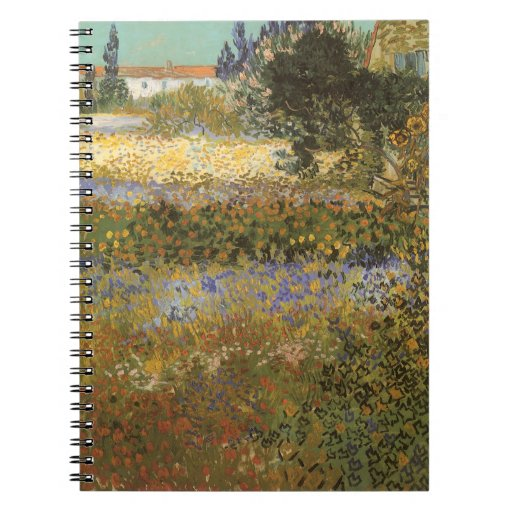 Flowering Garden by Vincent van Gogh Note Book
