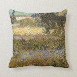Flowering Garden by Vincent van Gogh Pillows