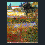 "Flowering Garden by Vincent van Gogh Postcard<br><div class=""desc"">A postcard with the oil painting by Vincent van Gogh,  Flowering Garden (1888),  painted at Arles-sur-Tech,  France. A floral landscape of various flowers and trees</div>"