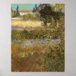 Flowering Garden by Vincent van Gogh Print