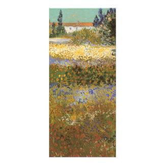 Flowering Garden by Vincent van Gogh Rack Card