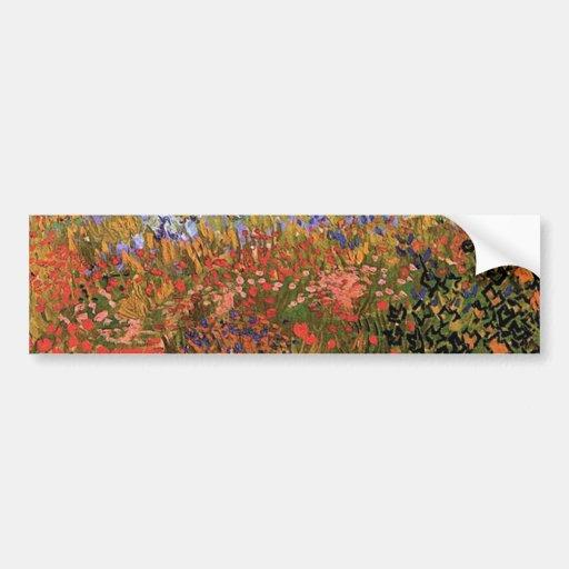 Flowering Garden,Vincent van Gogh. Bumper Stickers
