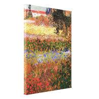 Flowering Garden, Vincent van Gogh. Stretched Canvas Print
