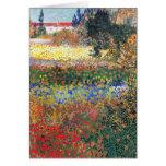 FLowering Garden, Vincent Van Gogh Card