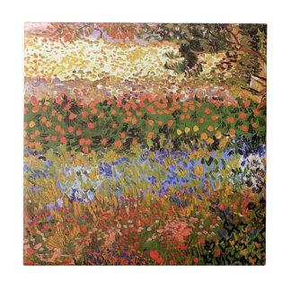 Flowering Garden,Vincent van Gogh. Ceramic Tile