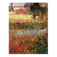 Flowering Garden,Vincent van Gogh. Post Cards