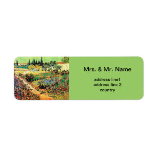 Flowering Garden with Path, van Gogh Label