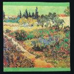 """Flowering Garden with Path, van Gogh Napkin<br><div class=""""desc"""">Flowering Garden with Path,  Vincent  van Gogh</div>"""