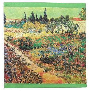 Flowering Garden With Path, Van Gogh Napkin