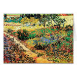 Flowering Garden with Path, Vincent van Gogh Greeting Cards