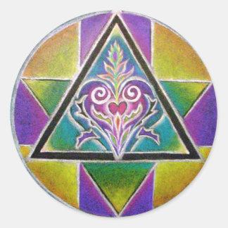 Flowering Heart Mandala Sticker