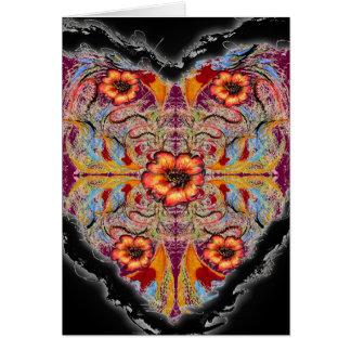 Flowering Heart Valentine Neovictorian Greeting Card