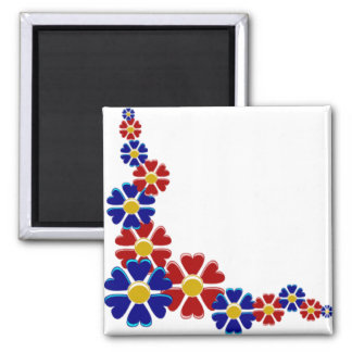 Flowering Hearts 2 Inch Square Magnet