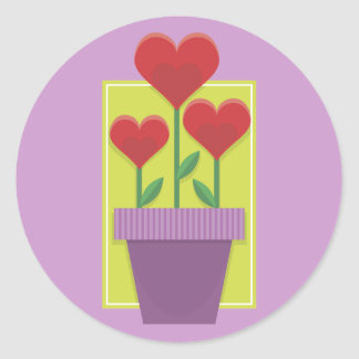 Flowering Hearts Stickers