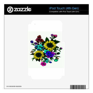 Flowering iPod Touch 4G Decals