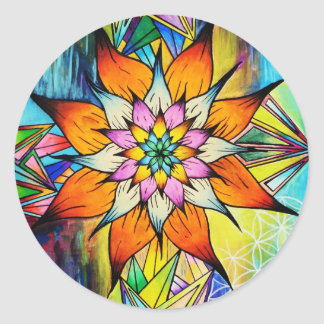 Flowering Life Classic Round Sticker