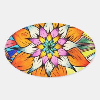 Flowering Life Oval Sticker