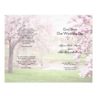 Flowering Magnolia Christian Wedding Program