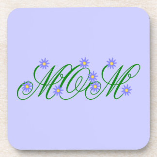 Flowering Mom blue Beverage Coaster