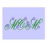 Flowering Mom blue Postcard