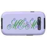 Flowering Mom blue Samsung Galaxy SIII Covers