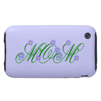 Flowering Mom blue Tough iPhone 3 Cover