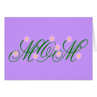 Flowering Mom pink Card