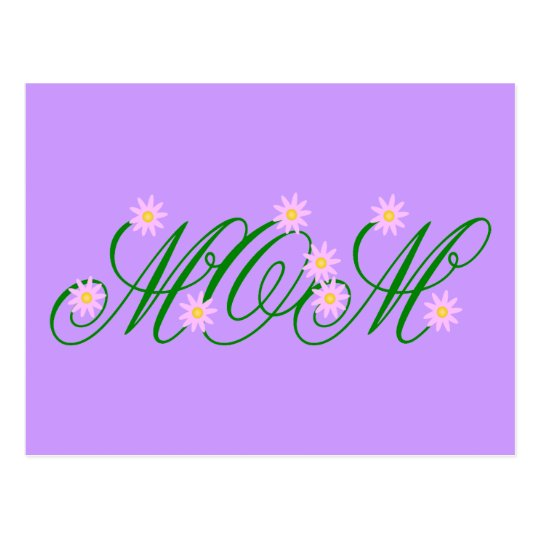 Flowering Mom pink Postcard