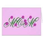 Flowering Mom purple Card