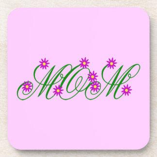 Flowering Mom purple Drink Coaster