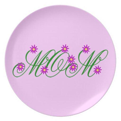 Flowering Mom purple Melamine Plate