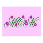 Flowering Mom purple Postcard