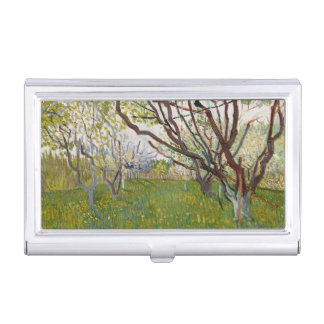 Flowering Orchard by Vincent Van Gogh Business Card Case