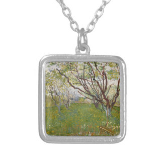 Flowering Orchard by Vincent Van Gogh Custom Necklace