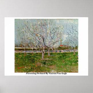 Flowering Orchard By Vincent Van Gogh Print