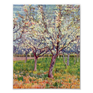 Flowering Orchard by Vincent Willem van Gogh Poster