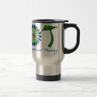 Flowering OT letters 15 Oz Stainless Steel Travel Mug