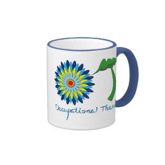 Flowering OT letters Ringer Mug