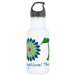 Flowering OT letters Water Bottle