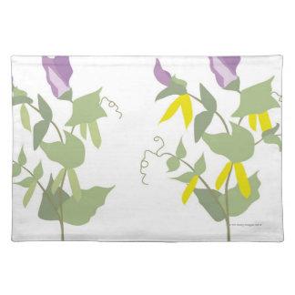 Flowering Pea Plants Cloth Placemat
