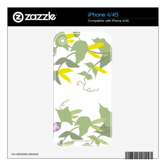 Flowering Pea Plants Decals For The iPhone 4S