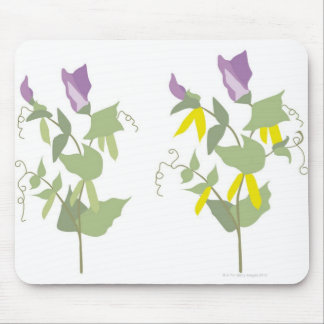Flowering Pea Plants Mouse Pad