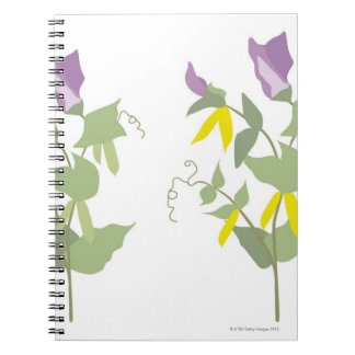 Flowering Pea Plants Spiral Notebooks