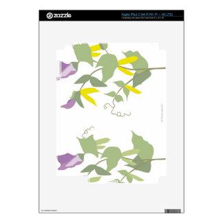 Flowering Pea Plants Skins For iPad 3
